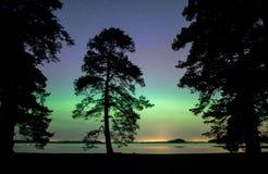 Lumières du nord Aurora Borealis Photo stock