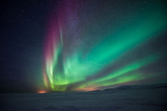 Lumières du nord Aurora Borealis Photographie stock