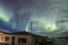 Lumières du nord dans le ciel de l'Islande Images libres de droits