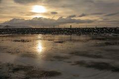 Lumières du nord dans le ciel de l'Islande Photos libres de droits