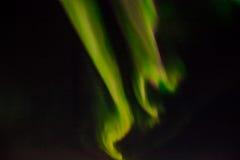 Lumières du nord dans le ciel nocturne Images libres de droits