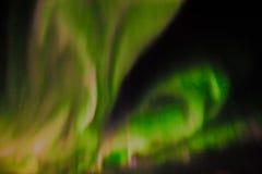 Lumières du nord dans le ciel nocturne Image libre de droits