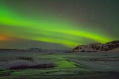 Lumières du nord de l'Islande photo libre de droits