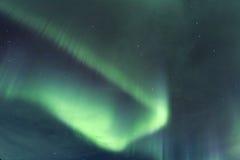 Lumières du nord en Islande Photos stock
