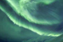 Lumières du nord en Islande Photographie stock libre de droits