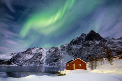Lumières du nord en Norvège Photos libres de droits
