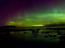 Lumières du nord 03 11 15, le lac Ladoga, Russie Images stock