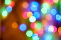 Lumières du ` s de nouvelle année image libre de droits