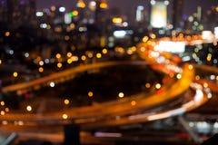 Lumières et bokeh abstraits brouillés de fond Photo libre de droits