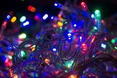 Lumières et couleurs de Cristmas image stock