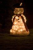 Lumières et décoration de Noël Images stock