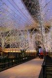 Lumières et illuminations à l'aéroport de Haneda Image stock