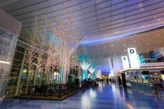 Lumières et illuminations à l'aéroport de Haneda Image libre de droits