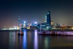Lumières et réflexions de Kowloon en Hong Kong Photos stock