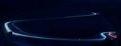 Lumières et routes de véhicule Photos libres de droits