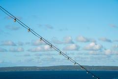Lumières et vue ficelées d'île Photo libre de droits