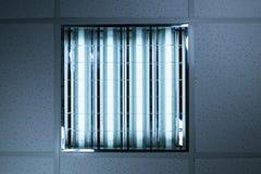 Lumières fluorescentes dans le plafond de bureau Photo libre de droits