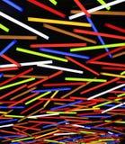Lumi?res fluorescentes de mur de tube au n?on de couleur comme fond color? de mod?le de rayure photo libre de droits