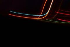 Lumières fraîches dans l'abrégé sur mouvement Image stock