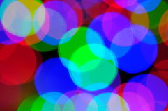 Lumières hors focale Photo libre de droits