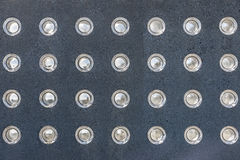 Lumières incluses dans un mur Photos libres de droits