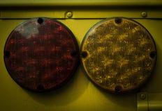 Lumières jaunes d'autobus Images stock