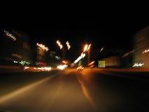 Lumières la nuit Photos stock
