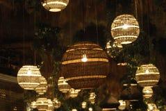 Lumières la nuit en Grèce Photographie stock