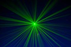 Lumières lasers vertes et rouges photographie stock