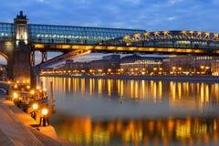 Lumières le long de la rivière Photos libres de droits