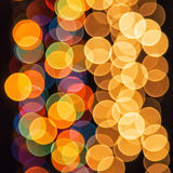 Lumières lumineuses à l'arrière-plan Photographie stock libre de droits