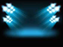 Lumières lumineuses d'endroit illustration libre de droits