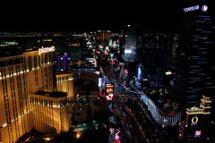 Lumières lumineuses de Las Vegas, nanovolt Image libre de droits