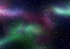 Lumières magiques de l'espace Photos libres de droits