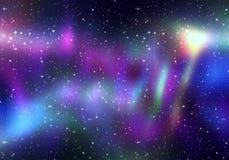 Lumières magiques de l'espace Images stock