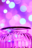 Lumières magiques de pot et de bokeh de glas Photographie stock