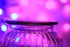 Lumières magiques de pot et de bokeh de glas Photographie stock libre de droits