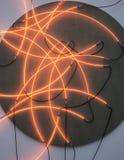 Lumières menées de mur Images stock