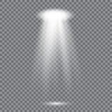 Lumières menées réalistes de projecteur illustration stock