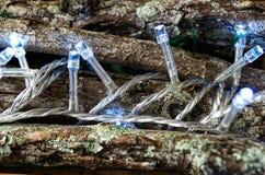 Lumières menées sur en bois photo stock