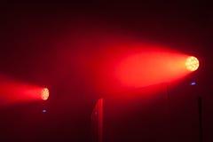 Lumières modernes de tache scénique du rouge LED images libres de droits