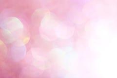 Lumières molles de fond abstrait élégant de fête rose de Noël Photos stock