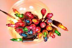 Lumières multicolores de clignotant Images libres de droits