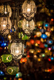 Lampes multicolores Photo libre de droits
