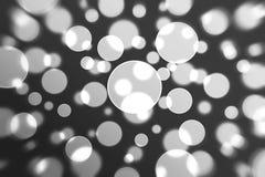 Lumières noires et blanches abstraites Images libres de droits
