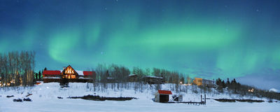 Lumières nordiques image libre de droits