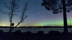 Lumières nordiques photographie stock libre de droits