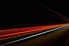Lumières oranges, rouges et jaunes abstraites Image libre de droits
