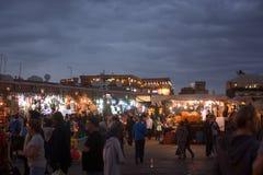 Lumières pendant la nuit de la célébration après Ramadan Photos libres de droits