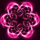 Lumières roses dans l'obscurité Photos libres de droits